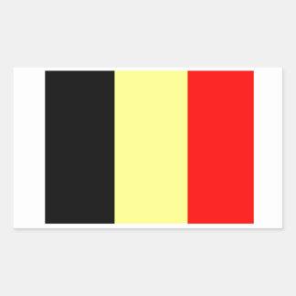 Belgian Flag Rectangular Sticker