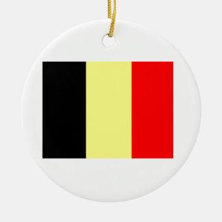Belgian Flag Round Ceramic Decoration