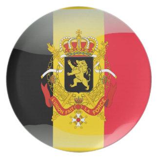 Belgian glossy flag plate