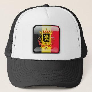 Belgian glossy flag trucker hat