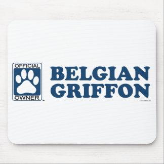 Belgian Griffon Blue Mouse Pad