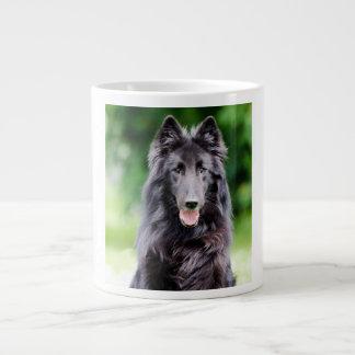 Belgian Groenendael dog, Belgian Shepherd photo Large Coffee Mug