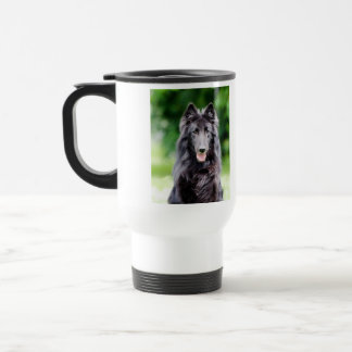 Belgian Groenendael dog, belgian shepherd photo Stainless Steel Travel Mug