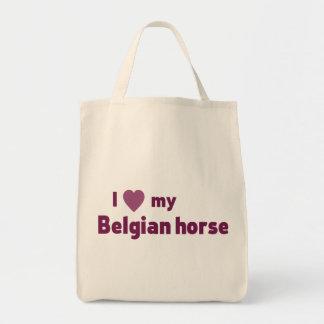 Belgian horse grocery tote bag
