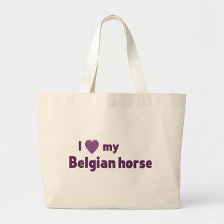 Belgian horse jumbo tote bag