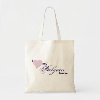 Belgian horse budget tote bag