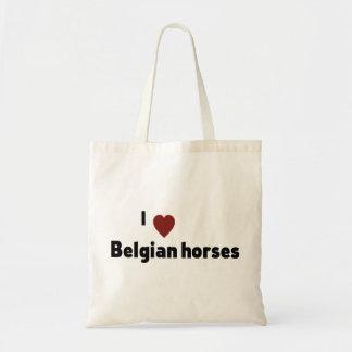 Belgian horses tote bags