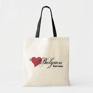 Belgian horses budget tote bag