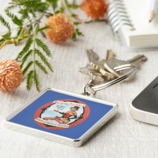 Belgian Jennie's Silver-Colored Square Key Ring