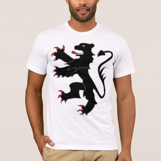 Belgian lion (black w/grey outline) T-Shirt