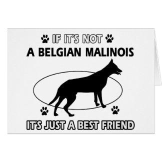 BELGIAN MALINOIS best friend designs Cards