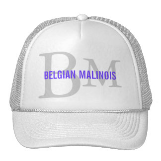 Belgian Malinois Breed Monogram Design Trucker Hat