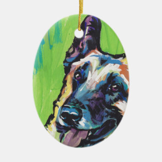 Belgian Malinois Bright Colorful Pop Dog Art Christmas Ornament