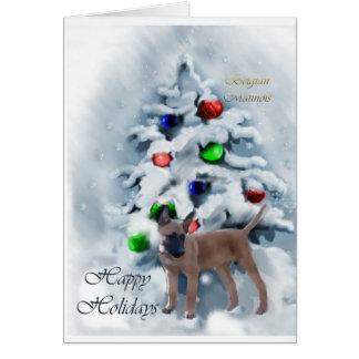 Belgian Malinois Christmas Gifts Greeting Cards