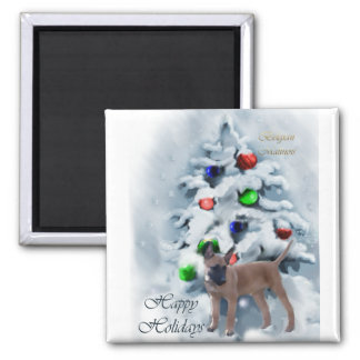 Belgian Malinois Christmas Gifts Square Magnet