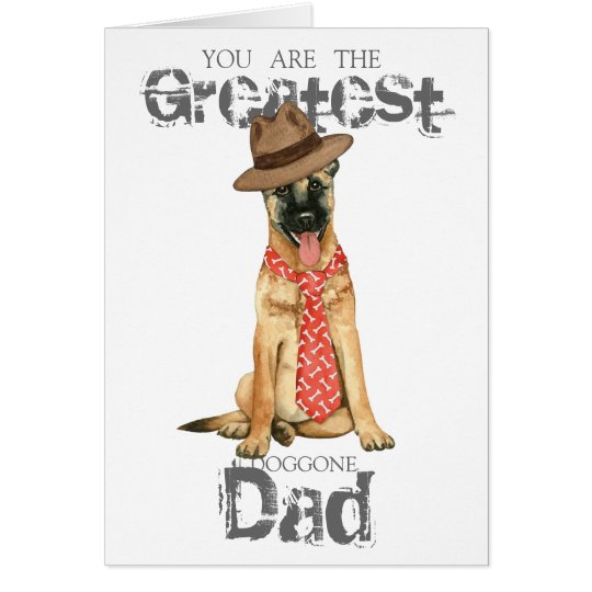 Belgian Malinois Dad Card