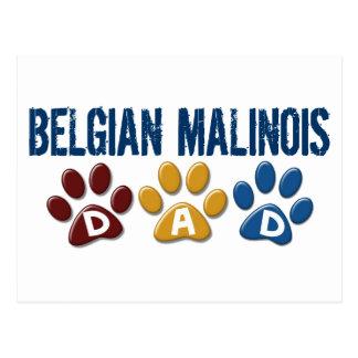BELGIAN MALINOIS DAD Paw Print Postcard