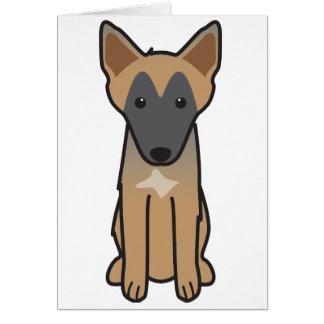Belgian Malinois Dog Cartoon Card