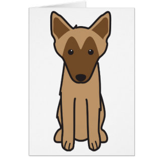 Belgian Malinois Dog Cartoon Greeting Card
