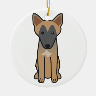 Belgian Malinois Dog Cartoon Christmas Ornament