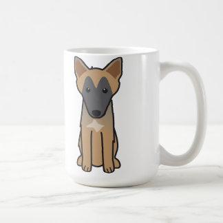 Belgian Malinois Dog Cartoon Coffee Mug