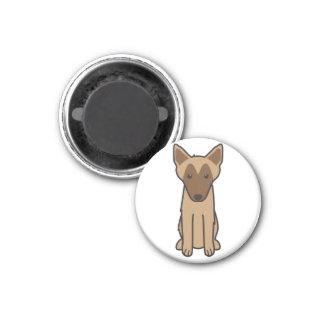 Belgian Malinois Dog Cartoon Magnet