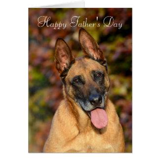 Belgian Malinois dog custom Father's Day card