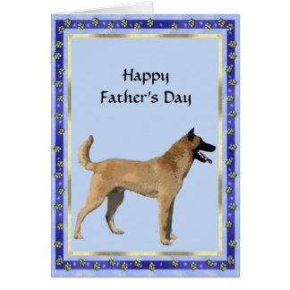 Belgian Malinois Father's Day Card w/poetry