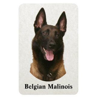 belgian malinois rectangular photo magnet