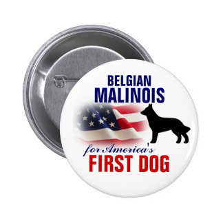 Belgian Malinois for First Dog 6 Cm Round Badge