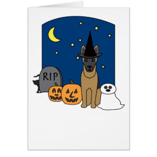 Belgian Malinois Halloween Greeting Card