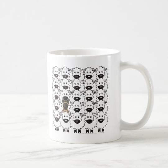 Belgian Malinois in the Sheep Coffee Mug