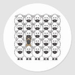 Belgian Malinois in the Sheep Classic Round Sticker