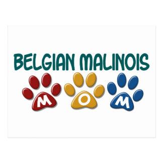 BELGIAN MALINOIS MOM Paw Print Postcard