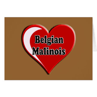 Belgian Malinois on Heart for dog lovers Greeting Card