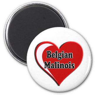 Belgian Malinois on Heart for dog lovers Refrigerator Magnet