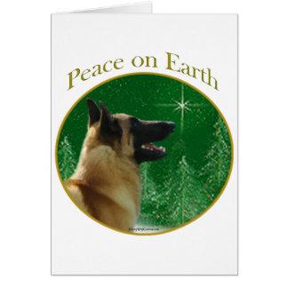 Belgian Malinois Peace Greeting Card