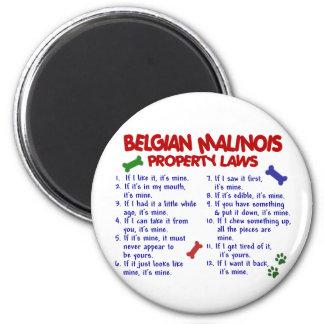 BELGIAN MALINOIS PL2 6 CM ROUND MAGNET
