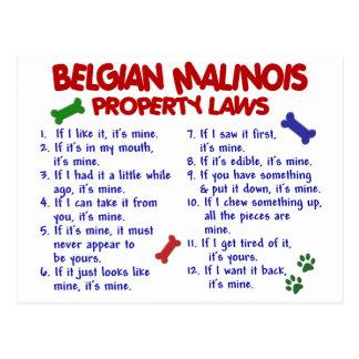 BELGIAN MALINOIS PL2 POST CARDS