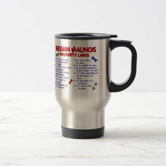BELGIAN MALINOIS PL2 TRAVEL MUG