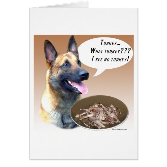 Belgian Malinois Turkey Card