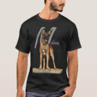 Belgian Malinois with breed name graphic T-Shirt