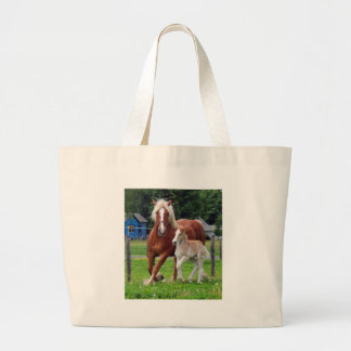 belgian Mare and Filly Jumbo Tote Bag