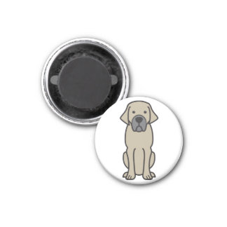 Belgian Mastiff Dog Cartoon Magnets