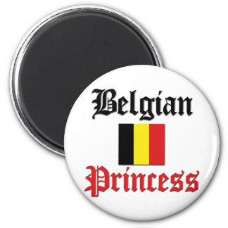 Belgian Princess 6 Cm Round Magnet