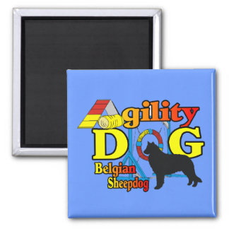 Belgian Sheepdog Agility Shirts Gifts Square Magnet