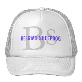 Belgian Sheepdog Breed Monogram Mesh Hat
