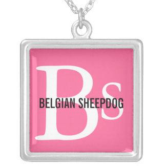 Belgian Sheepdog Breed Monogram Necklaces