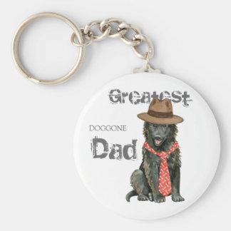 Belgian Sheepdog Dad Basic Round Button Key Ring