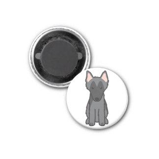 Belgian Sheepdog Dog Cartoon Magnets
